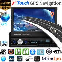 "7"" RDS Autoradio Car Stereo MP5 Player 1DIN GPS Navi FM AM BT Berühren+EU Karte"