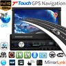 "7"" RDS Autoradio Car Stereo MP5 Player 1DIN GPS Navi FM AM BT Berühren+EU Karte"