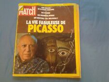 RARE 1973 Paris Match No.1250 PICASSO La Vie Fabuleuse De April 21 Pablo FRANCE