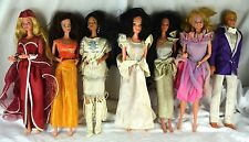 Lovely 1980's-90's Barbie Dolls Lot w/ Original Outfits Native American Snow