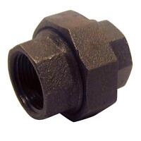 """3/4"""" BSP Union Female/Female Black Malleable Iron Pipe Fitting"""