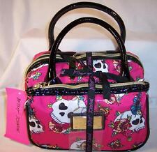 Betsey Johnson 2pc Barrel Fancy Skulls Pink BRC1605