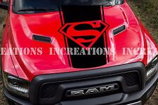 Super Man Hemi Dodge Ram Hood Decal Sticker Racing Any Truck  Stripe Toyota GMC
