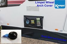 Kampa Single Black Wheel Arch Cover with Limpet attachment system