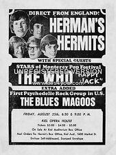 "Hermans Hermits / The Who Kiel Opera House 16"" x 12"" Photo Repro Concert Poster"