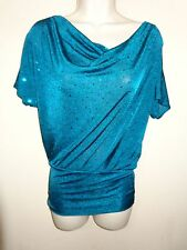 *NEW* w/tags Beautiful Juniors fitted top Size S (teal)  0616*7