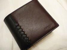 COACH Men's Leather Wallet Oxblood/Black Baseball Stitch NWT + receipt  F21371