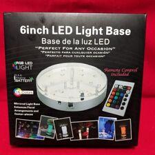 """Under Vase Light,6inch Multicolors RGB LED Base Vase Light, Base 6""""X1.4"""" Round"""