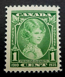 CANADA ORIGINAL `1935  ENGRAVED PORTRAIT OF 9 YEAR OLD PRINCESS ELIZABETH