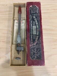 Vtg.Irwin Micro-Dial Expansive Wood Bit No.21 Bores 5/8'' To 1-3/4'' With Box