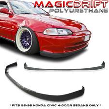 92 93 94 95 Honda Civic EG 4DR Sedan SiR Front + Rear Bumper Lip Kit Combo