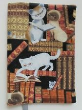 FABRIC Paperback Book Cover Standard Paperback Library Cats Kitty Tails Kittens