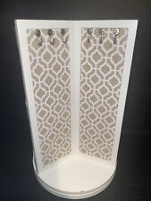 Cynthia Rowley White Spinning Jewelry Holder Stand Spins/Lazy Susan Display