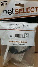 Hubbell NetSelect 1-Port HDMI Wall Plate NS801W - White - Kellems
