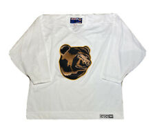 Vintage 90s CCM NHL Boston Bruins Pooh Bear White Hockey Practice Jersey Size XL