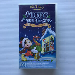 Walt Disney - Mickey's Magical Christmas-  VHS PAL Video - Mickey Mouse
