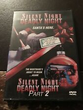 DVD - Silent Night, Deadly Night Parts 1 & 2 (2003, Widescreen) RARE & OOP