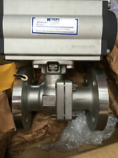 "1 1/2"" Actuated Ball Valve Flanged with Pneumatic K-Torc C-105SR12  Actuator"