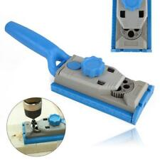 Pocket Hole Drill Jig Round Doweling Wood Tenon Locator Woodworking Tool