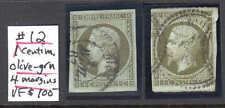 FRANCE 12 SPECIALIST COLLECTION LOT CXLS x2 #2 $160+ ANNOTATED