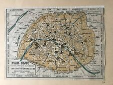 PLAN-BIJOU  GUIDE PRATIQUE DE PARIS  EXPOSITION UNIVERSELLE 1889