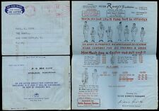 HONG KONG 1969 AIR LETTER POST PAID MACHINE METER to USA...RANEY TAILORS