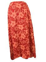 Judith Hart Midi Skirt Size 16W Orange Tropical