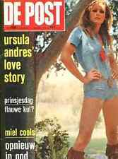URSULA ANDRES sexy FULL-Cover De Post 1972 Magazine JAMES BOND GIRL HOT PANTS