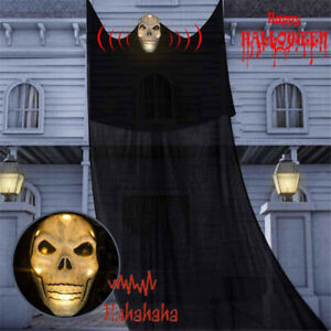 Halloween Hanging Luminous Ghost Scary Voice Ghost Pendants Party Layout Props