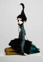 BJD SD Doll Boy 1/4 free eyes + faceUp black swan resin figure