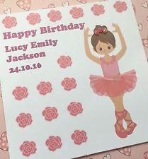 Personalised Card, Girls Birthday Card,  Ballerina design, Little ballet girl