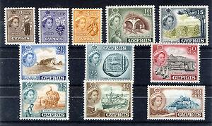CYPRUS 1955 DEFINITIVES SG173/183  MNH