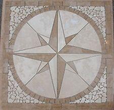 "Marble Travertine Tile Medallion Square Design Stone 32"" # 47"
