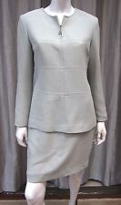 LAURA MADRIGANO VINTAGE LONG SLEEVE PETITE DRESS SIZE 6P SOLID LIGHT GREEN