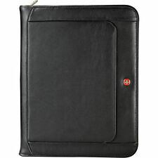 Wenger Executive Business Leather Zippered Padfolio - Black
