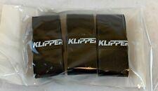 Klipper Racquet Overgrip - Tennis Racket Grip Tape 3 Pack Black