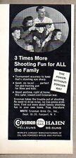 1960 Print Ad Crosman CO2 Hahn Pellguns BB Guns Fairport,NY