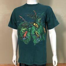 Vtg Habitat Xciv Frogs All Over 2 Sided Shirt Sz L Usa