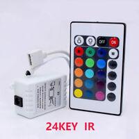 LED RGB controller DC 12V 24key IR with remote wireless for 3528 5050 RGB 1PCS