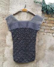 Senza maniche da donna in lana con girocollo
