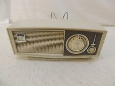 Vintage AM Transistor Radio Mid-Century Modern Sears Silvertone Model 8002 WORKS