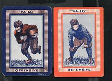 1934 Football Yalo Offense and Defense Football Cards-Set of 2 -