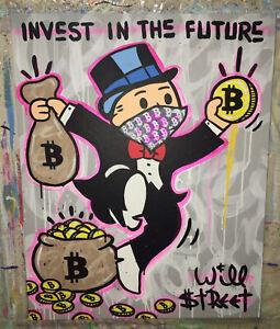 Will $treet original painting 🎩/ Gallery300 street monopoly Art banksy alec pop