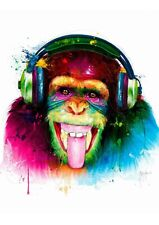 DJ MONKEY BY PATRICE MURCIANO STANDARD SIZE POP ART PRINTS-KEYRINGS-MUGS