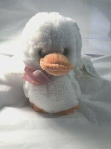 Plush White Duck Easter Basket Spring Egg Hunt Decoration Child Gift