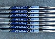 "4-PW NEW AUTHENTIC PROJECT X 95 FLIGHTED 6.5 FLEX .355"" TAPER TIP IRON SHAFTS"