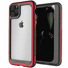 iPhone 11 Pro Max Clear Case Aluminum Cover Shockproof Bumper Ultra Slim Fit Red