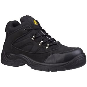 Amblers Safety Boots Mens FS151 Black Steel Toe Cap Industrial Work Shoes UK4-13