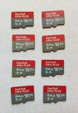 8x SanDisk 64GB Ultra Plus Micro SDXC Class 10 SD Cards 80MB/s = 512GB