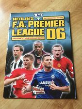Merlin empty unused Premier League 06 sticker album Panini great condition